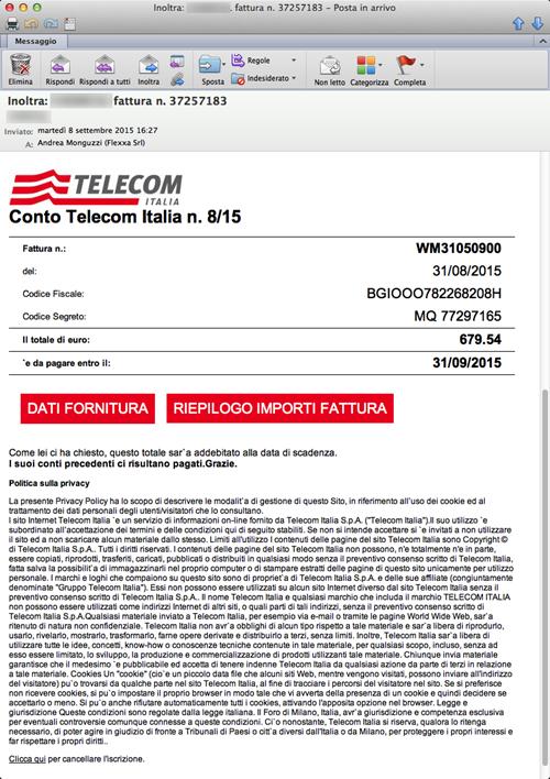 Virus Mail Telecom